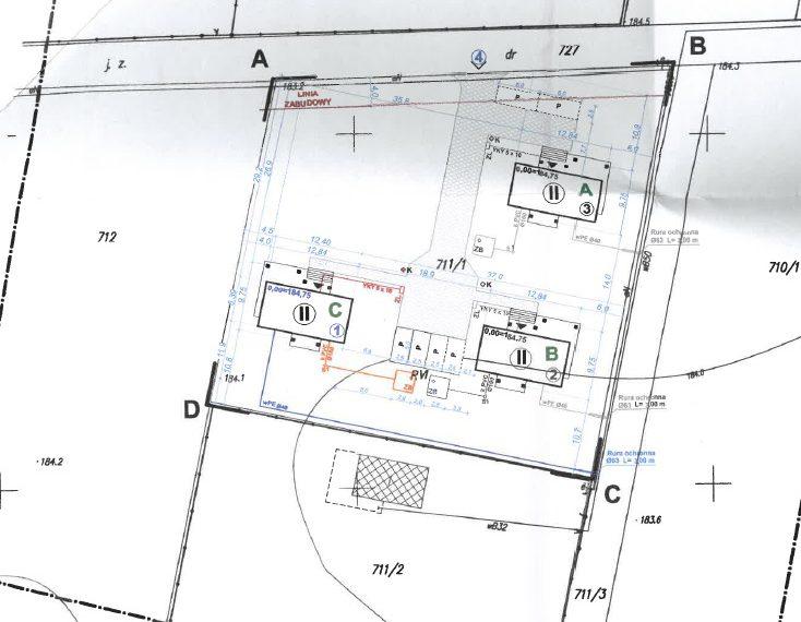 mapa do celów projektowych Radawa